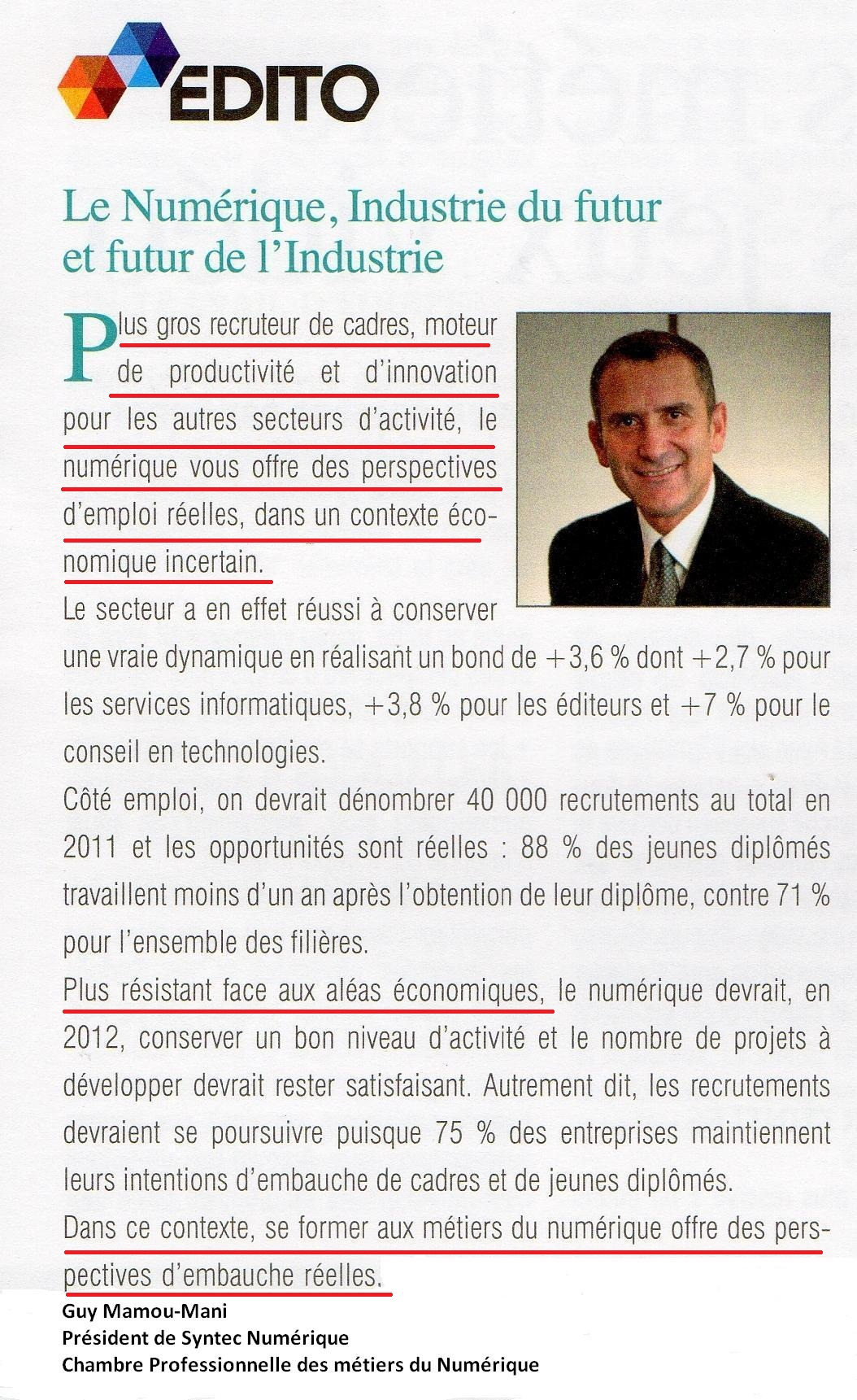Article sur le Syntec