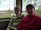 Les internes dans le train touristique de l'Albret
