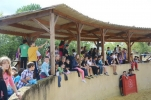 Les internes de St-Jean Bosco de Gabarret à la Ganaderia de Burros
