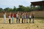 Les collégiens à la Ganaderia de Buros - sept 2013