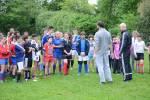 Les jeunes de la Section Sportive Rugby assistent à un entraînement de Patrice Lagisquet