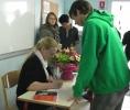 Visite de la romancière Claire-Lise MARGUIER au collège St-Jean Bosco de Gabarret