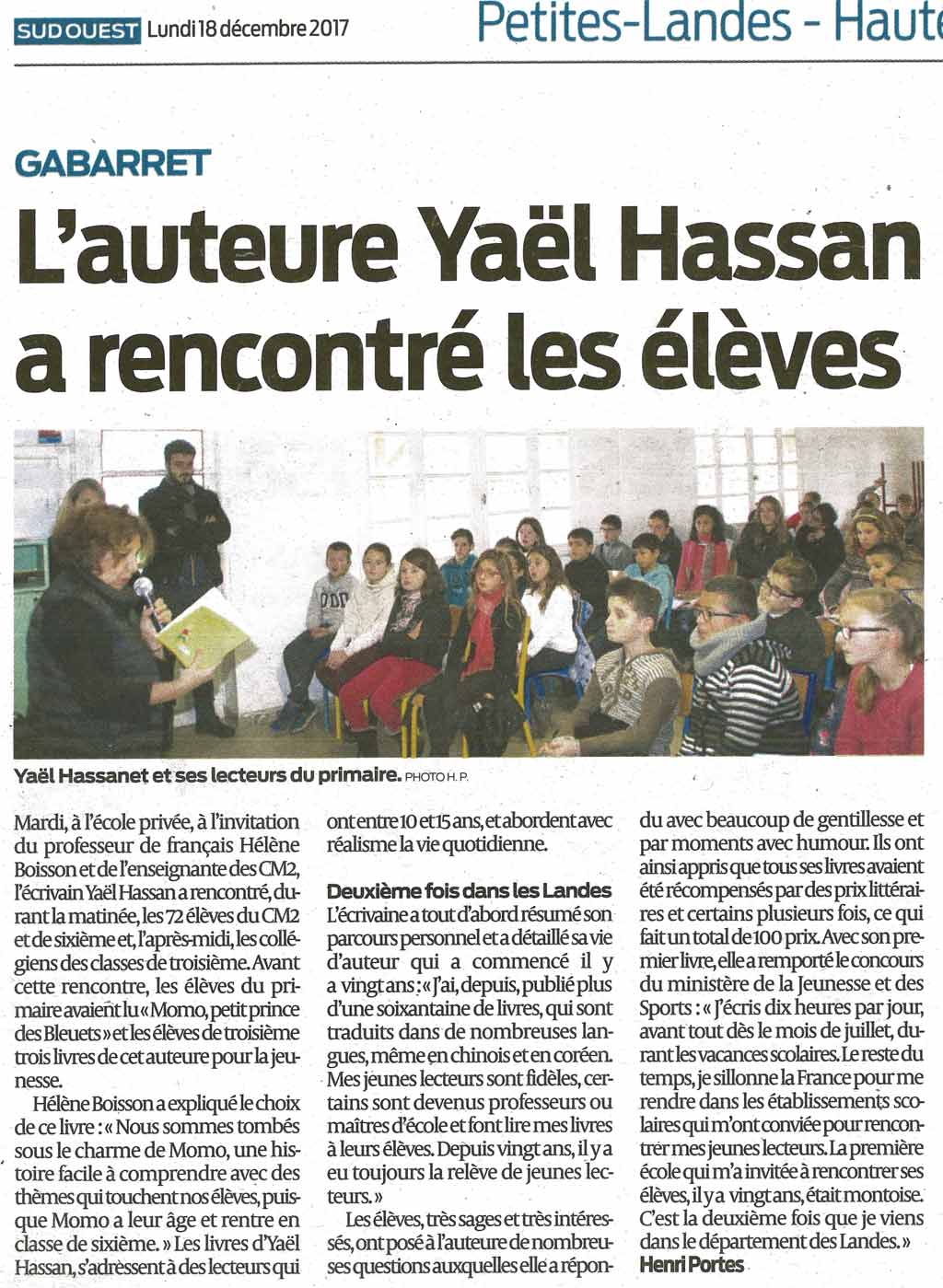 article-sudouest-yael-hassan-jan-2018