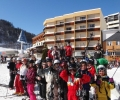 Les collgiens font une sortie ski  Gourette
