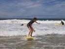 Les lycéens pratiquant le surf à Capbreton