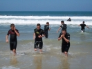 Les lycéens au surf sur le spot de Capbreton